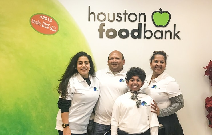 Volunteering at the Houston Food Bank
